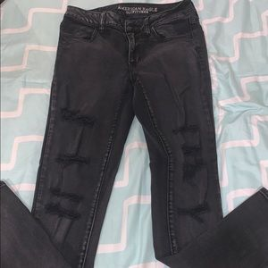 Black highwaisted American Eagle jeans